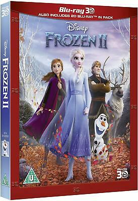 FROZEN 2 II (2019) 3D + 2D Blu-Ray with slipcover BRAND NEW Free Ship