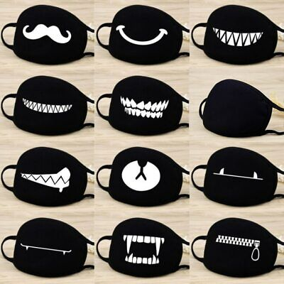 Cotton Face Mask , 12 Style , Teeth Pattern Cartoon Mouth , Washable-Reusable
