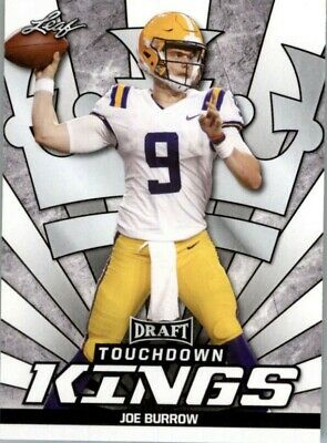 2020 Leaf Draft Td Kings Joe Burrow Cincinnati Bengals Lsu Tigers Rookie Rc #85