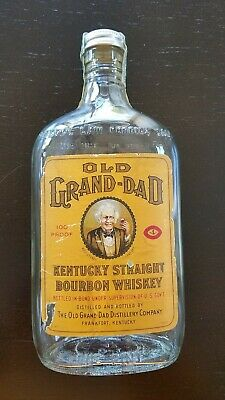 Vintage Old Grand Dad Kentucky Straight Bourbon Whiskey Empty 1pint Bottle 1941