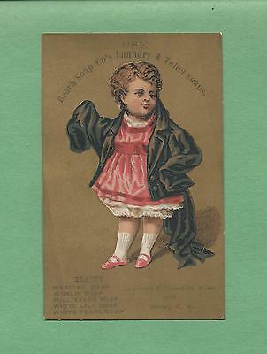 Adorable GIRL Plays DRESS-UP On Colorful BEACH SOAP Victorian Trade Card