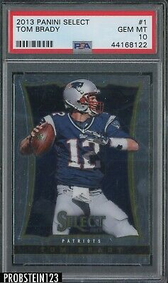 2013 Panini Select Tom Brady New England Patriots PSA 10 POP 8 RARE