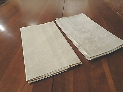 Irish Linen Damask Antique High Quality and NEW never used