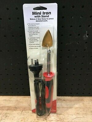 Sew Easy - Mini Iron With Stand - Red - New
