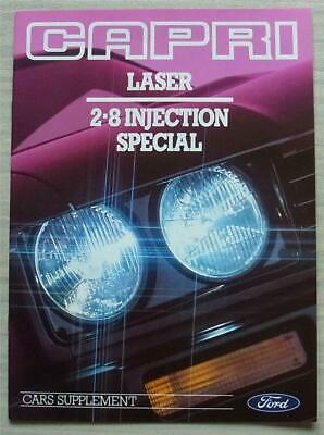 FORD CAPRI LASER & 2.8 INJECTION SPECIAL Car Sales Brochure March 1987 #FA778