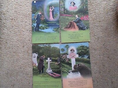 ".SET OF 4 BAMFORTH SONG POSTCARD. ""THORA.""NOTE THIS IS SERIES No.4612."