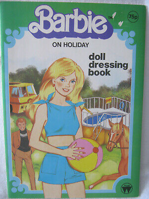 New Barbie Paper Doll & Coloring Book ~ Vintage 1986 ~ On Holiday
