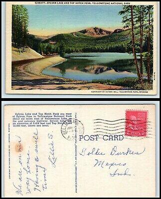 YELLOWSTONE NATIONAL PARK Postcard - Sylvan Lake & Top Notch Peak CM