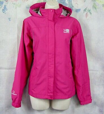 girls KARRIMOR pink raincoat anorak jacket with hood age 13 (weathertite)