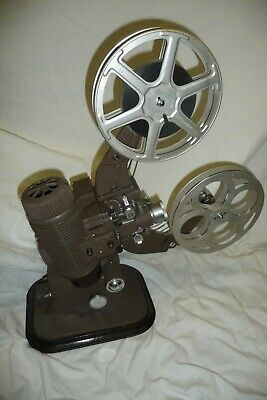 Cine film projector BELL & HOWELL 613 16mm 110v + 2 spare bulbs & lead + film