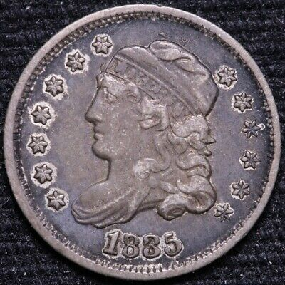 1835 Capped Bust Half Dime CHOICE XF FREE SHIPPING E718 SLM