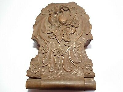 Very Fine Quality 19th Century Swiss Carved Pocket Watch Stand / Case Beautiful