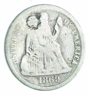 1869-S Seated Liberty Dime - Holed Coin Collection *986