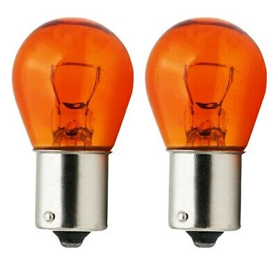 Quality Car 581 12 Volt 21 Watt Bulbs Amber Offset Pack of Two Long Life BAU15s