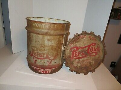 Vintage Pepsi Syrup Can w/Lid-10 Gallon Size