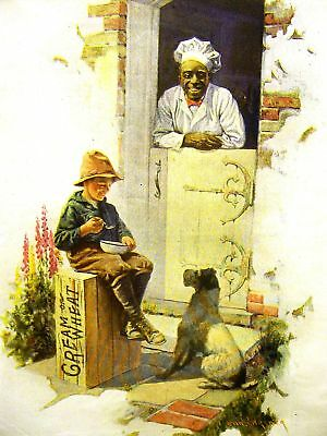 Brewer CREAM OF WHEAT Ad HIS TWO BEST FRIENDS 1922 Matted