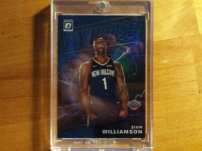 Zion Williamson 2019-20 Optic My House! Rookie Rc In Mag Case #15 Prizm Blue Sp!