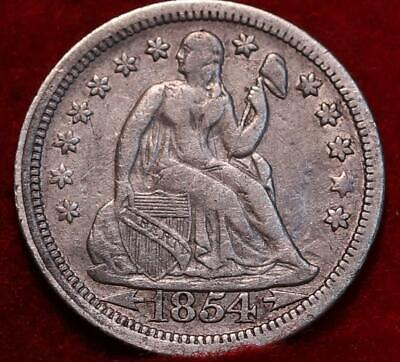 1854 Silver Philadelphia Mint Seated Liberty Dime with Arrows
