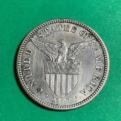 Us Philippines Fifty Centavos 1907-P #313