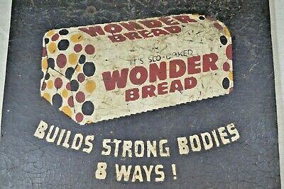 Rare, Vintage Wonder Bread Wooden Sign- Early - 1940's - From Old Country Store