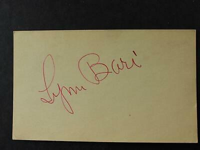 Sultry Actress Lynn Bari (1913-1989) Autograph Index Card~