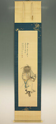 "掛軸1967 JAPANESE HANGING SCROLL ""Shoki / Zhong Kui""  @f370"