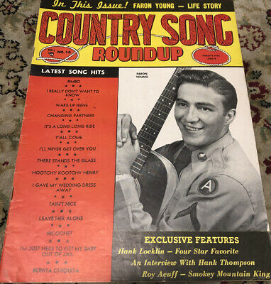 County Song Roundup Magazine Faron Young #30 March/April 1954