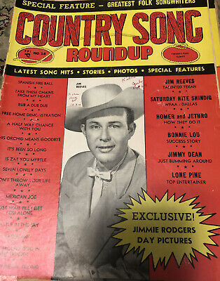 COUNTRY SONG ROUNDUP No. 26 JIM REEVES, Greatest Folk Songwriters 1953