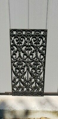 French Art deco Cast Iron Door Grill Railing sections decorative Garden panel