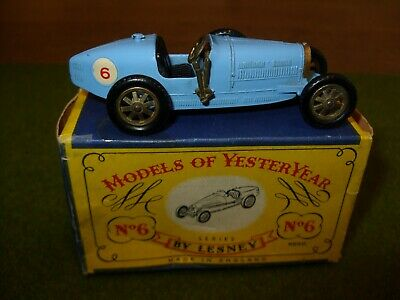 Boxed MATCHBOX LESNEY MOY Models of Yesteryear Y-6 SUPERCHARGED BUGATTI Type 35