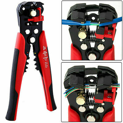 Automatic Cable Wire Stripper Crimper Crimping Tool Adjustable Plier Cutter See