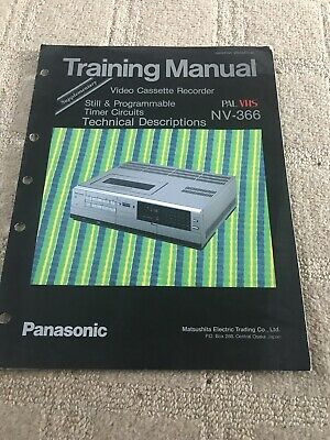National /Panasonic NV -366 Training Manual Supplementary Still & Programmable T
