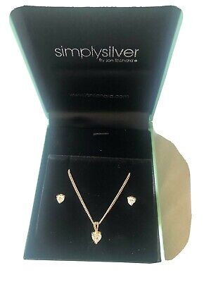 Simply Silver Earrings and Necklace.