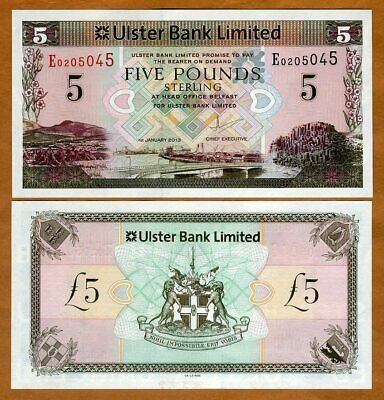 Ireland Northern, Ulster Bank, 5 pounds, 2013, P-340b, UNC