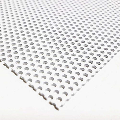 """Online Metal Supply White Painted Aluminum Perforated Sheet, 0.040"""" x 12"""" x 24"""""""
