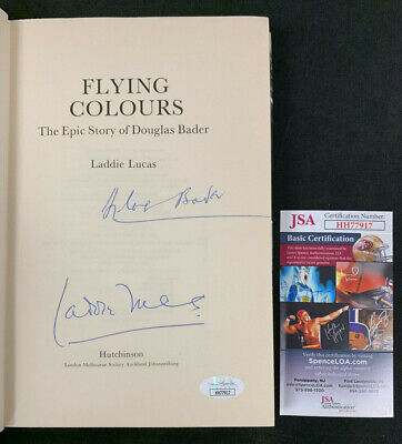 Laddie Lucas/Douglas Baker Air-Force Hand Signed Flying Colours Book Jsa/Coa