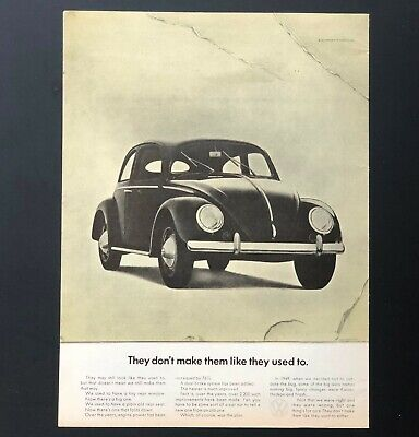 1968 Volkswagen Beetle Advertisement VW Bug Dont Make Like Used To Vtg Print AD