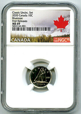 2020 Canada 10 Cent Classic Dime Ngc Ms69 First Releases Rare Top Pop Only 12