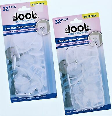 Jool Ultra Clear Outlet Protectors 2pk