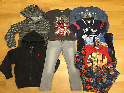 Boys Clothes Bundle Age 4-5 Jeans Tshirt Polo Hoody Pjs Ralph Lauren Timberland