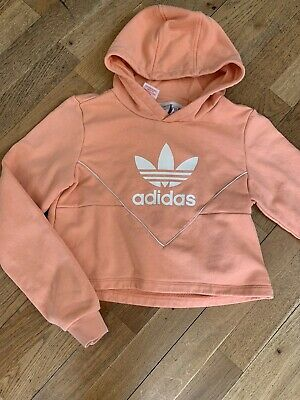 Girls Adidas Crropped Hoody Age 10-12