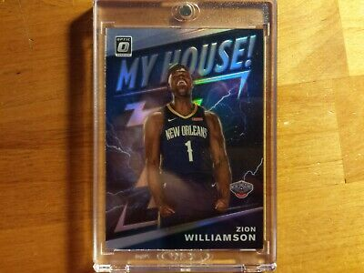 Zion Williamson 2019-20 Optic My House! #15 Prizm Silver Refractor! Pelicans Hot