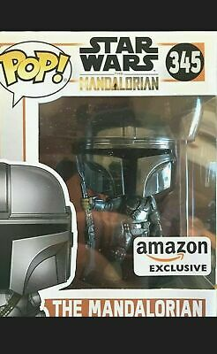 Funko Pop Star Wars The Mandalorian Chrome Amazon Exclusive Preorder