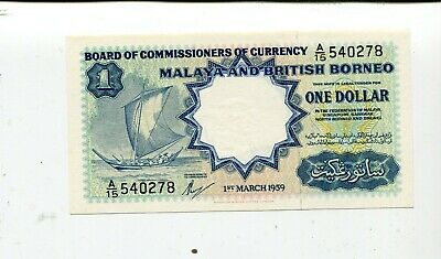 Malaya And British Borneo 1 Dollar 1959 Au/Unc Nr 19.95