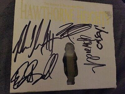 autographed hawthorne heights cover just case and cover no insert or cd