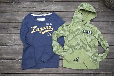 lot junior ladies size XS S hoodie sweatshirt ROXY and HOLLISTER laguna