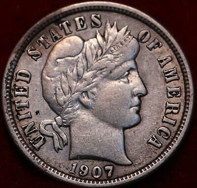 1907-O New Orleans Mint Silver Barber Dime