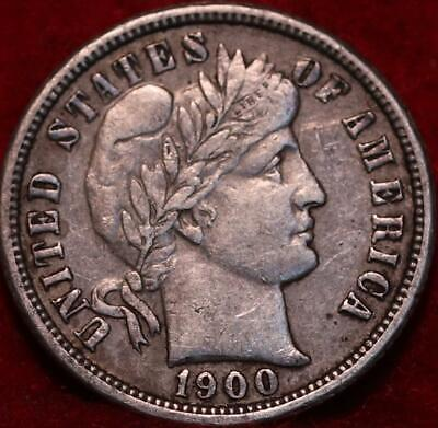 1900-O New Orleans Mint Silver Barber Dime