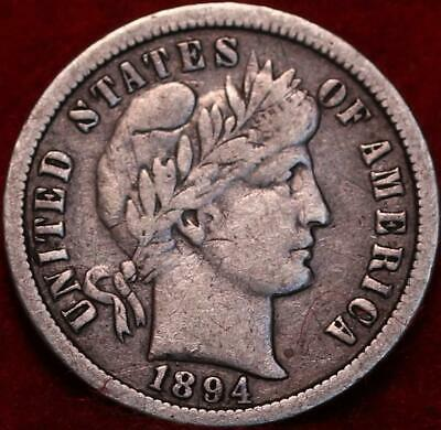 1894-O New Orleans Mint Silver Barber Dime