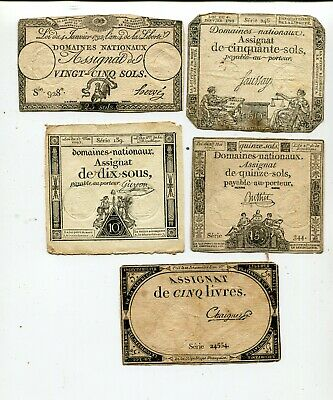 France 5 Notes From 1790 S Nr 15.00